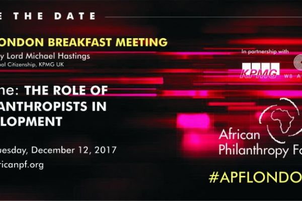APF London Breakfast Meeting The Role of Philanthropists in Development