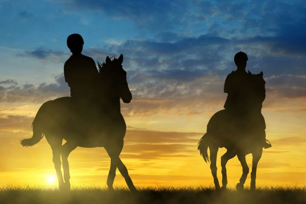 photodune 17386288 silhouette two riders on horse xxl 1